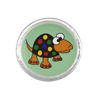 Funny Spotted Turtle Ring Jewelry