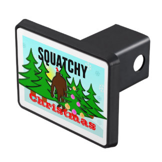 Funny Squatchy Christmas Bigfoot Hitch Covers