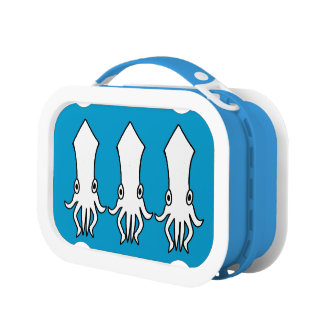 funny squids lunch box
