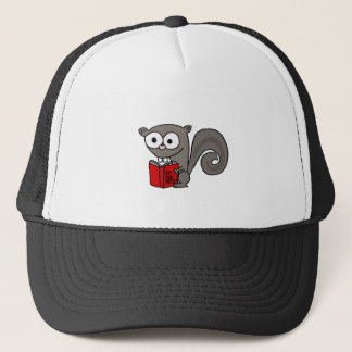 Funny Squirrel Reading Are you Nuts Book Trucker Hat