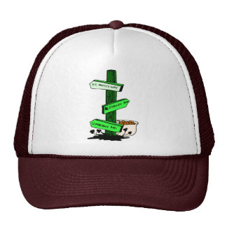 Funny St. Patrick's Day Sign Post Hat