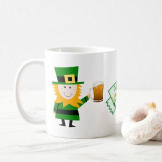 FUNNY ST PATRICKS DAY GIFT, IRISH MAN AND SHAMROCK COFFEE MUG