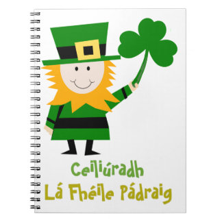 FUNNY ST PATRICKS DAY GIFT, IRISH MAN AND SHAMROCK NOTEBOOK