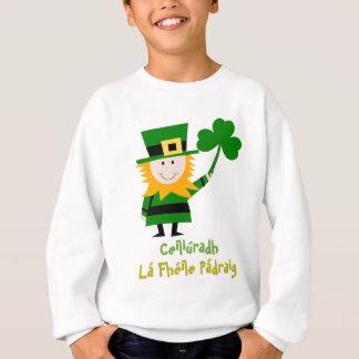 FUNNY ST PATRICKS DAY GIFT, IRISH MAN AND SHAMROCK SWEATSHIRT