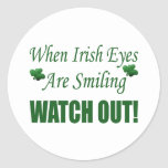 Funny St. Patrick's Day Gift Round Stickers