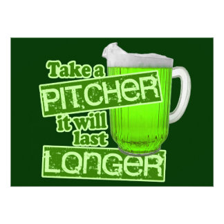 Funny St. Patrick's Day Green Beer Custom Announcements