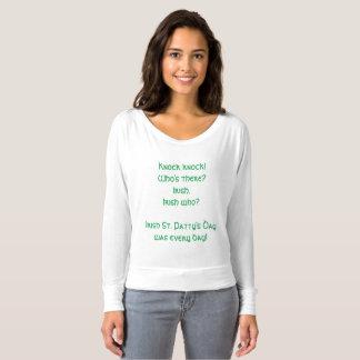 Funny St. Patrick's Day Knock Knock Joke Shirt