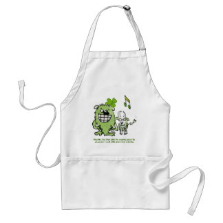 Funny St Patricks Day Monsters Cartoon Apron