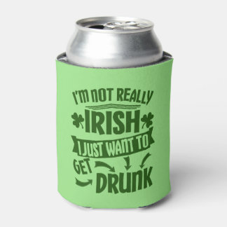Funny St Patricks Day Not Really Irish Beer Cooler