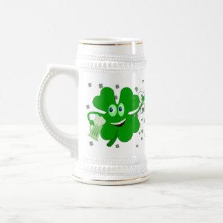Funny St Patricks Day Shamrock Stein