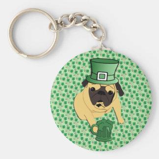 Funny St. Patrick's Irish Pug Keychain