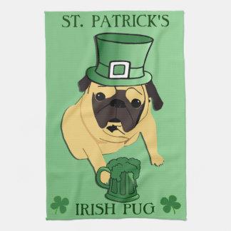 Funny St. Patrick's Irish Pug Kitchen Towels