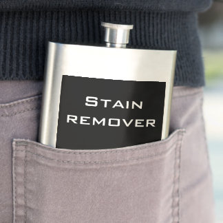 """Funny """"stain remover"""" hip flask"""