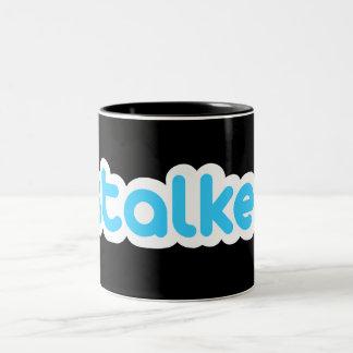 Funny stalker Two-Tone coffee mug