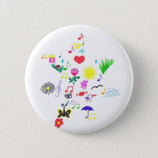 funny star 2 inch round button