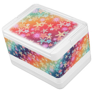 Funny Starfish in a colorful rainbow style pattern