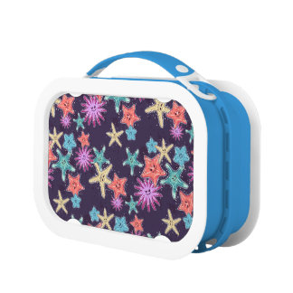 Funny Starfish pattern in a deep-coloured style Lunch Box