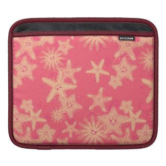 Funny Starfish rouge-lemonade pattern iPad Sleeve