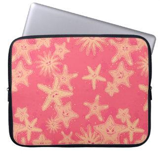 Funny Starfish rouge-lemonade pattern Laptop Sleeve