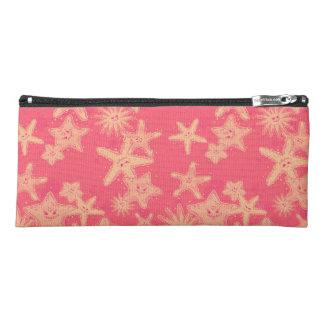 Funny Starfish rouge-lemonade pattern Pencil Case