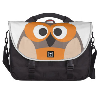 Funny staring cartoon owl bag commuter bag