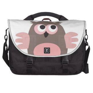 Funny staring cartoon owl bag laptop messenger bag