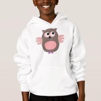 Funny staring cartoon owl hooded Sweatshirt