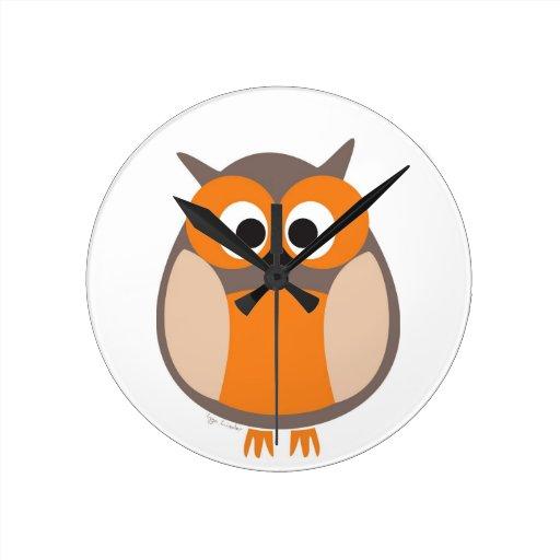 Funny staring owl wallclocks