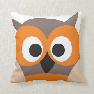Funny staring owl pillow
