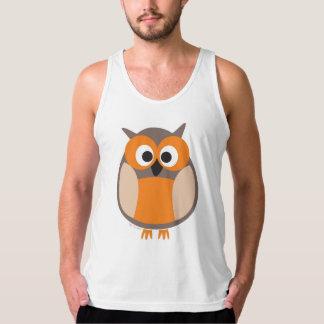 Funny staring owl tank top
