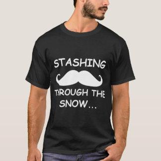 Funny Stashing through the snow Holiday Dark Shirt