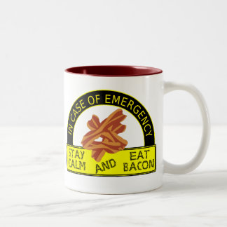 Funny Stay Calm, Eat Bacon Mug