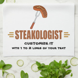 Funny Steak Kitchen Towel