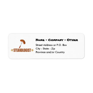 Funny Steak Return Address Label