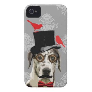 Funny steampunk dog iPhone 4 Case-Mate case