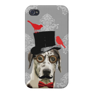 Funny steampunk dog iPhone 4 covers