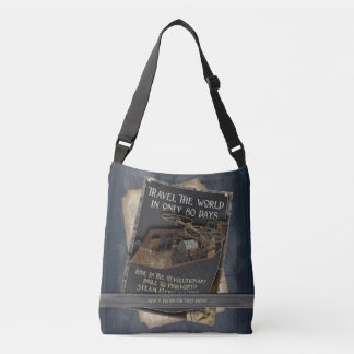 Funny Steampunk Rusty Flying Machine Crossbody Bag