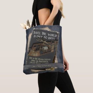 Funny Steampunk Rusty Flying Machine Tote Bag