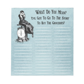 Funny Steampunk Shopping List Notepads