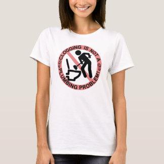 Funny Stick Figure Plunger Clogging Dancer T-Shirt
