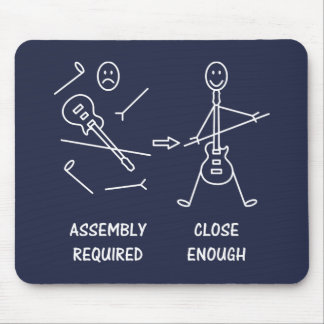 Funny Stickman Guitarist Assembly Mouse Pad