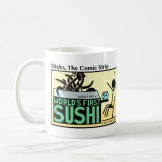 Funny Stickman World's First Sushi Mug