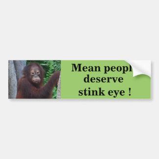 Funny Stink Eye Bumper Sticker