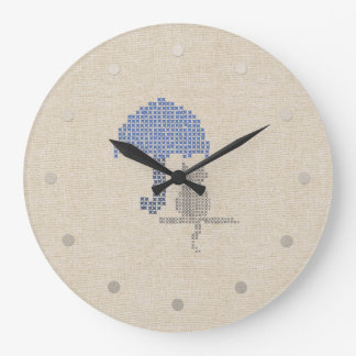 Funny Stitched Umbrella Cat Wall  Clock