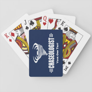 Funny Storm Chaser Playing Cards