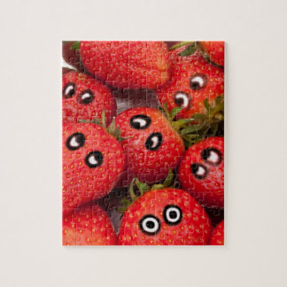 Funny strawberries. jigsaw puzzle