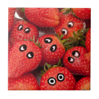 Funny strawberries. tile