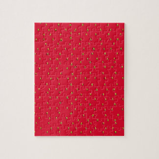 Funny strawberry background red jigsaw puzzle