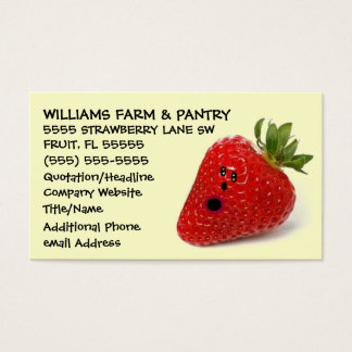 Funny Strawberry Farm Advertising Business Card