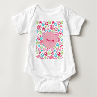 Funny Striped Candies in pastel colors Baby Bodysuit